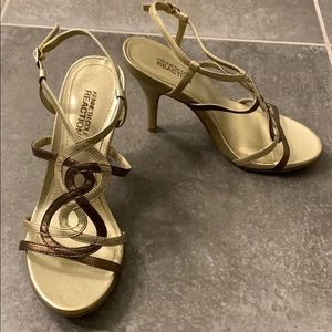 Kenneth Cole Reaction gold heels